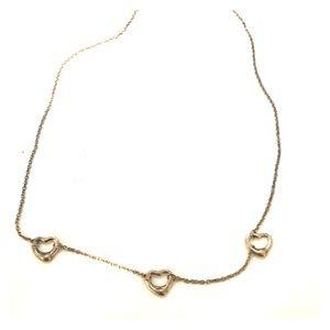 Tiffany & Co. 3 heart silver necklace